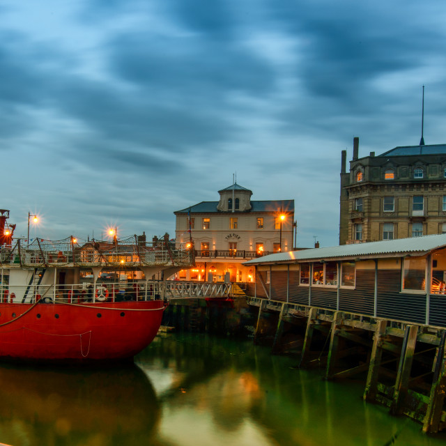 """""""Harwich Pier Hotel View"""" stock image"""