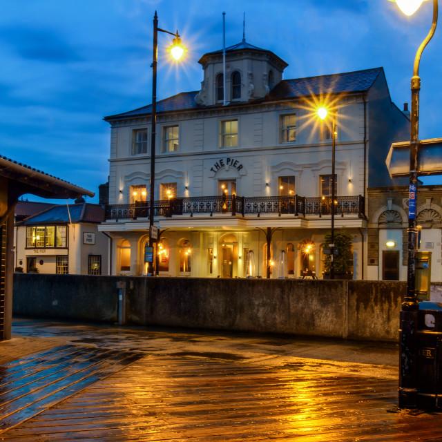 """""""Pier Hotel Halfpenny Pier Harwich"""" stock image"""