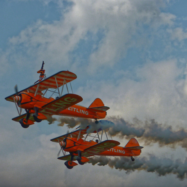 """""""Breitling Wing Walkers"""" stock image"""
