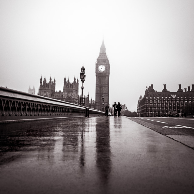 """Misty Big Ben"" stock image"