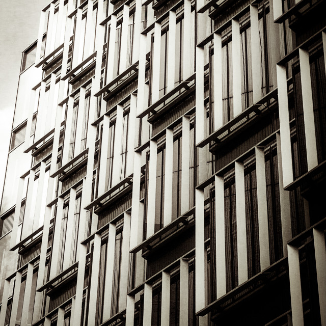 """Slatted window architecture"" stock image"