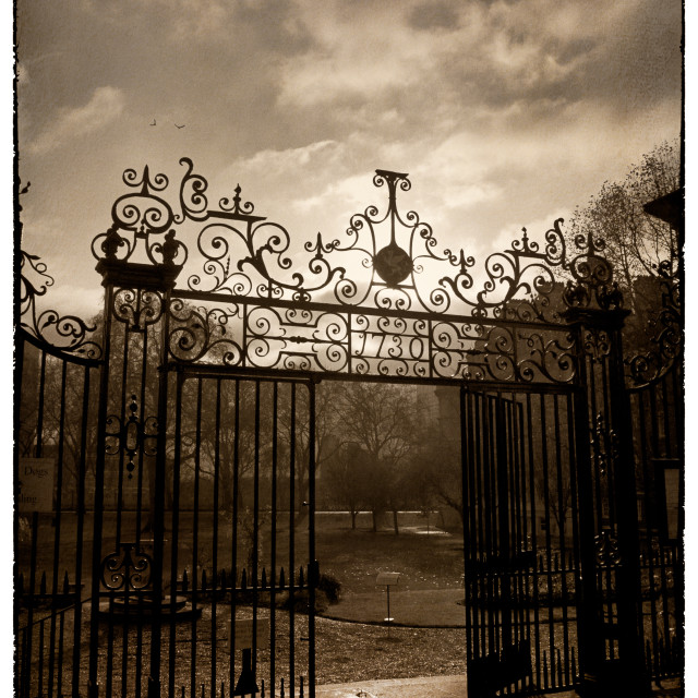 """1730 Park Gates"" stock image"