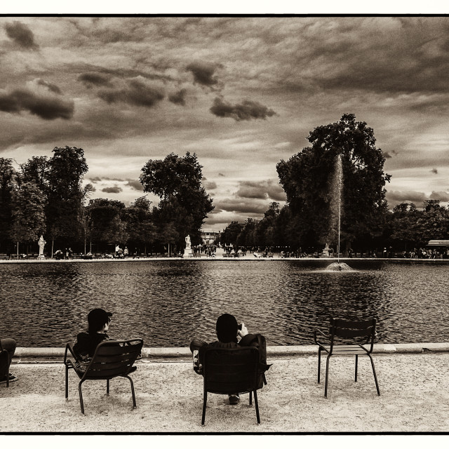 """Relaxing in Jardin des Tuileries"" stock image"