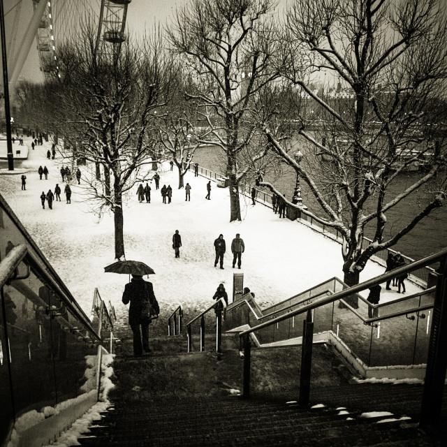 """Snow in London"" stock image"