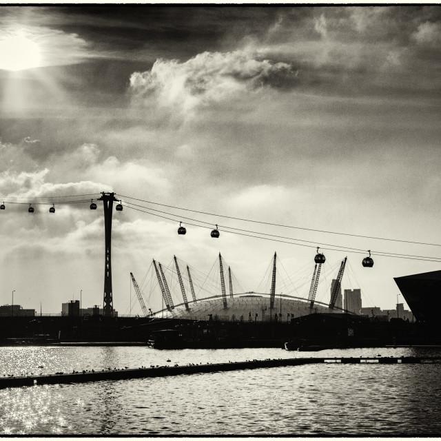 """Millenium Dome & the City"" stock image"