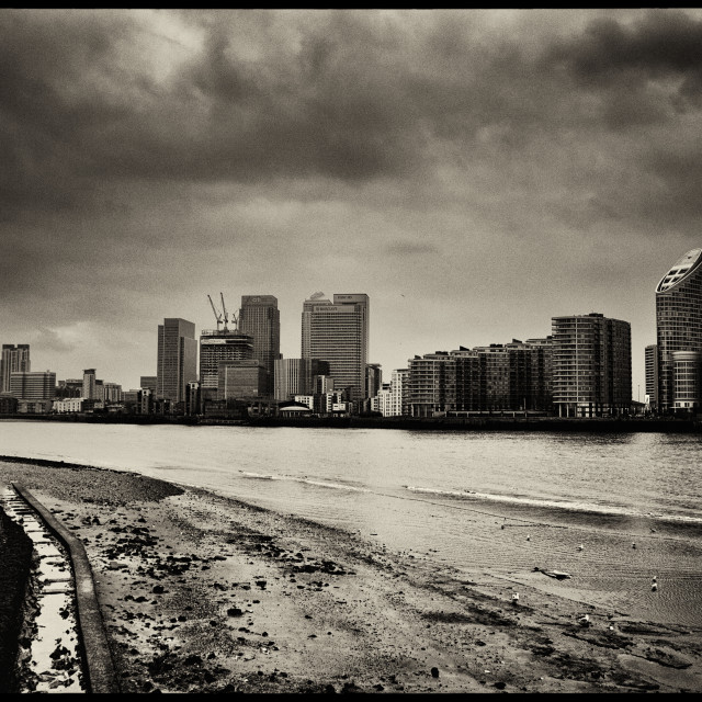 """""""London City, Old and New"""" stock image"""