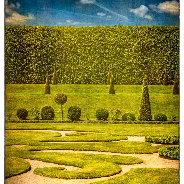 """Hampton Court 'The Privy Garden"" stock image"
