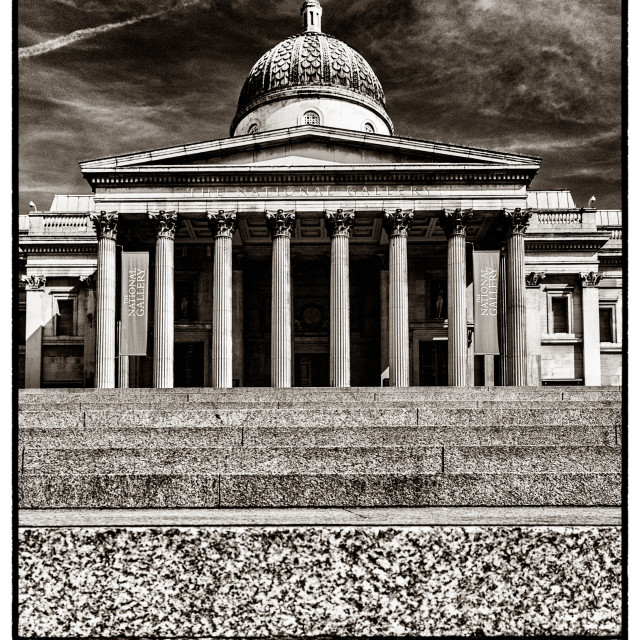 """""""The National Gallery BW"""" stock image"""