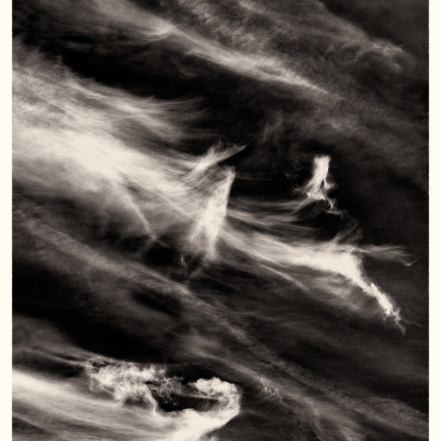 """Black & White Sky Wisps"" stock image"