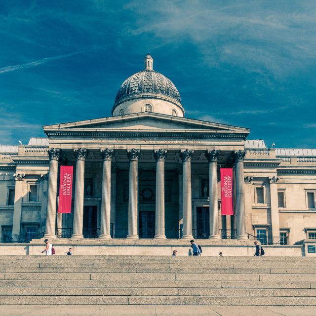 """The National Gallery - Trafalgar Square"" stock image"