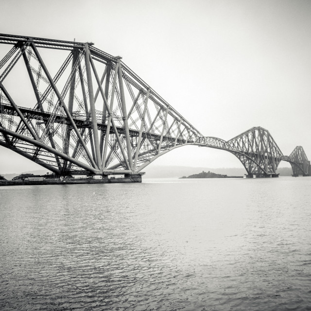 """Forth Bridge spanning across Water"" stock image"