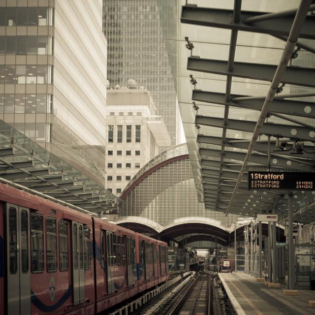 """Canary Wharf Station"" stock image"