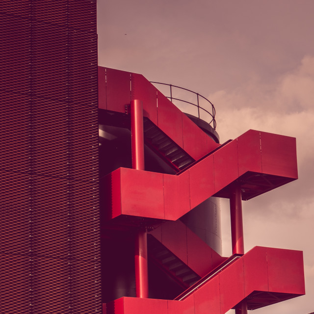 """""""Red stairs"""" stock image"""