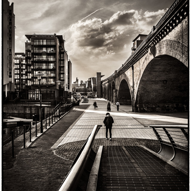 """Limehouse Basin Pathway"" stock image"