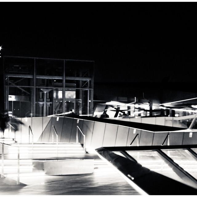 """Night Lights on London Rooftop"" stock image"