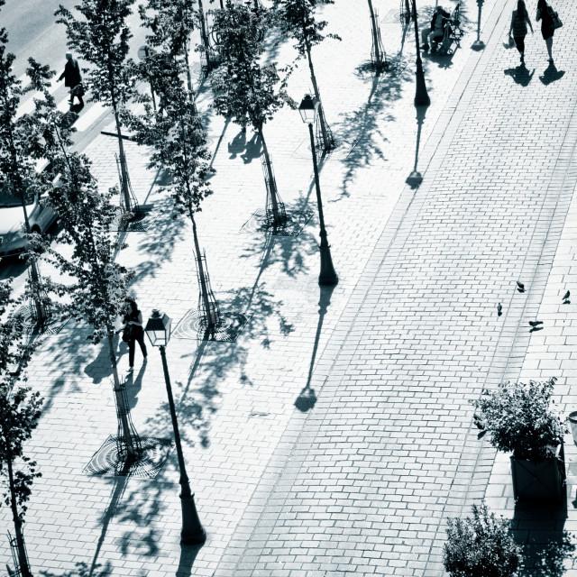 """Rue de Rivoli Sidewalk"" stock image"