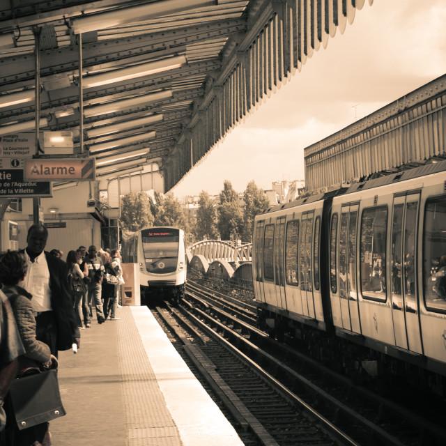 """Parisian Tram Station"" stock image"