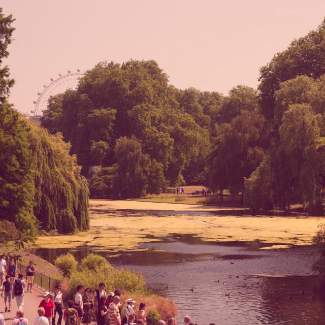 """St James Park River"" stock image"