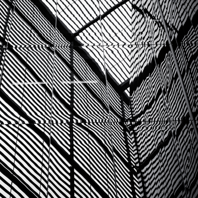 """""""Glass reflections Geometric Lines intersecting"""" stock image"""