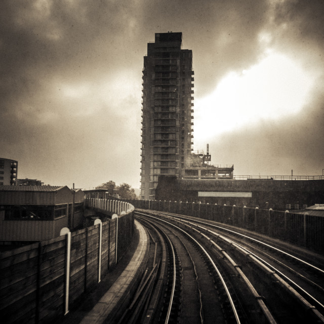 """""""DLR Ride to Deptford"""" stock image"""