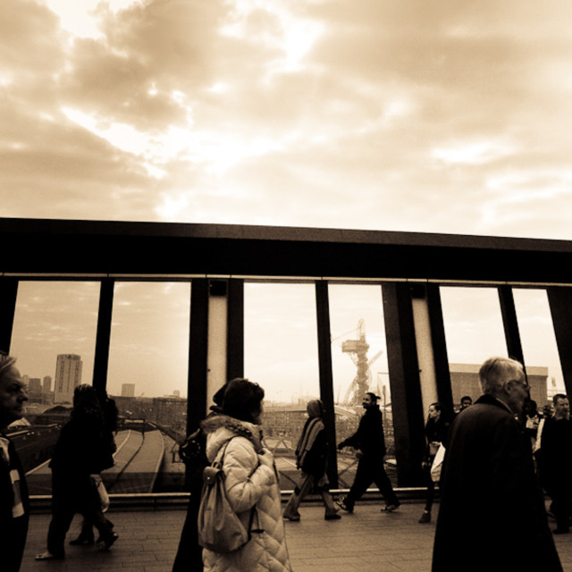 """Royal Victoria Docks, Stratford, evening, city, cityscape, urbanscape,..."" stock image"