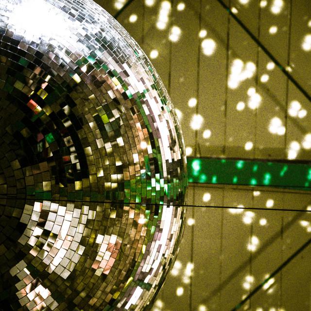 """""""Giant Glitter Ball"""" stock image"""