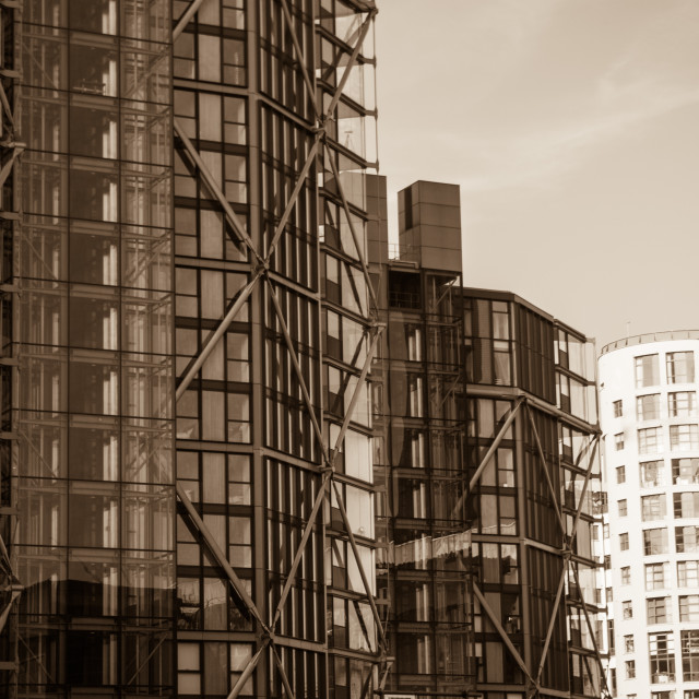 """""""Tall Residential Buildings in London"""" stock image"""