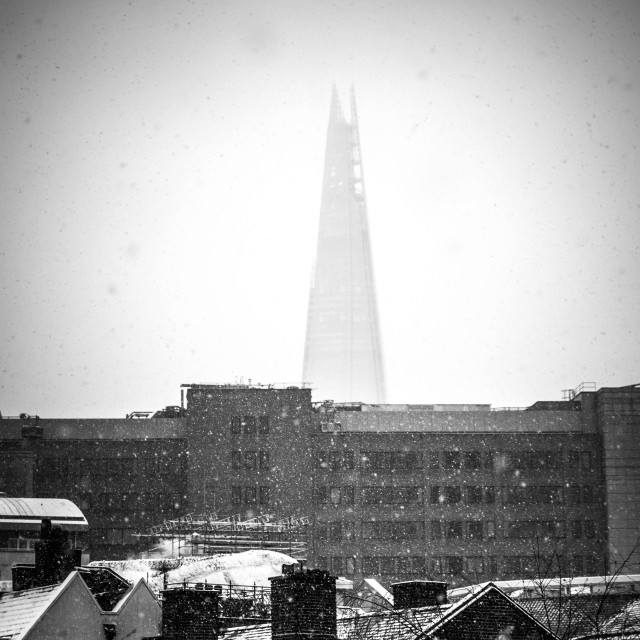 """""""The Shard seen over Rooftops"""" stock image"""