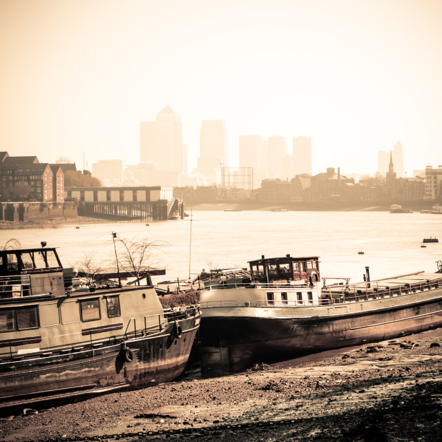 """""""Old and New London Town"""" stock image"""
