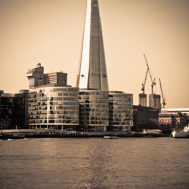 """""""The Shard across the River Thames"""" stock image"""