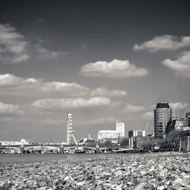 """""""The Thames at low tide"""" stock image"""
