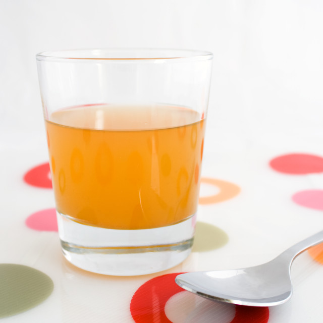 """Glass of apple cider vinegar"" stock image"