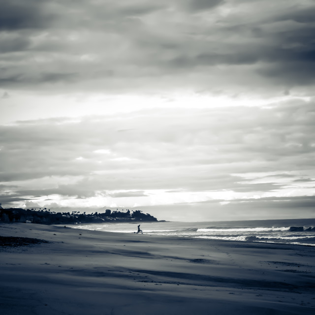 """Beach in Black and White"" stock image"