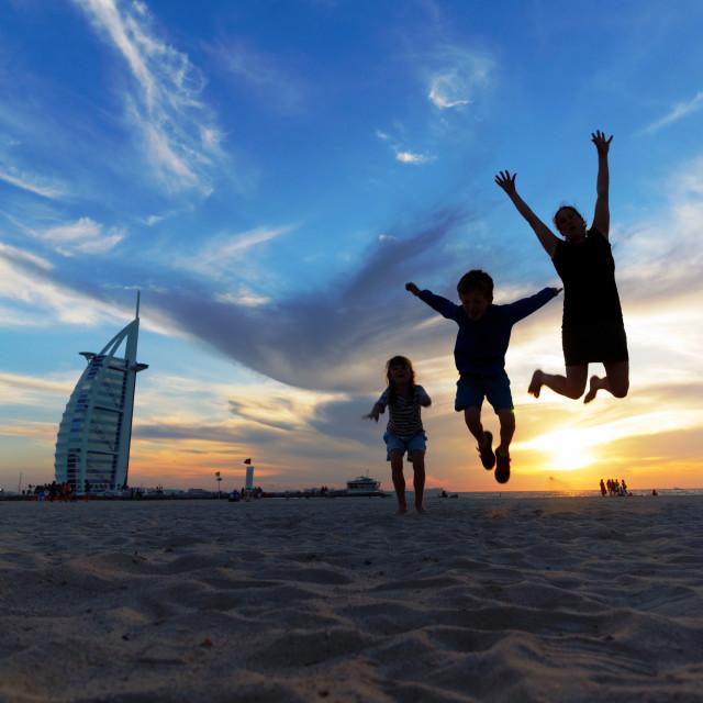 """Travel With Kids - Dubai"" stock image"