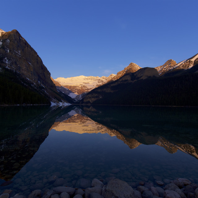 """Lake Louise Dawn"" stock image"
