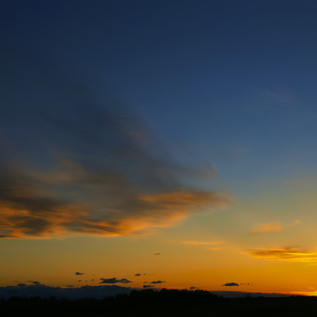 """""""Nose Hill Park Sunset"""" stock image"""