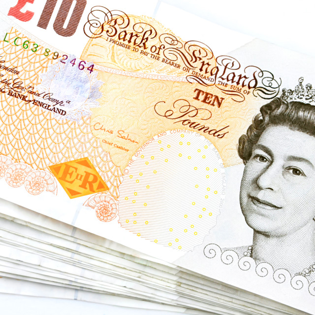 """British pounds"" stock image"