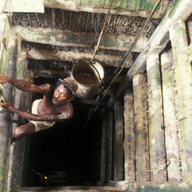 """""""SRI LANKA WELIGAMA WATER STATION"""" stock image"""