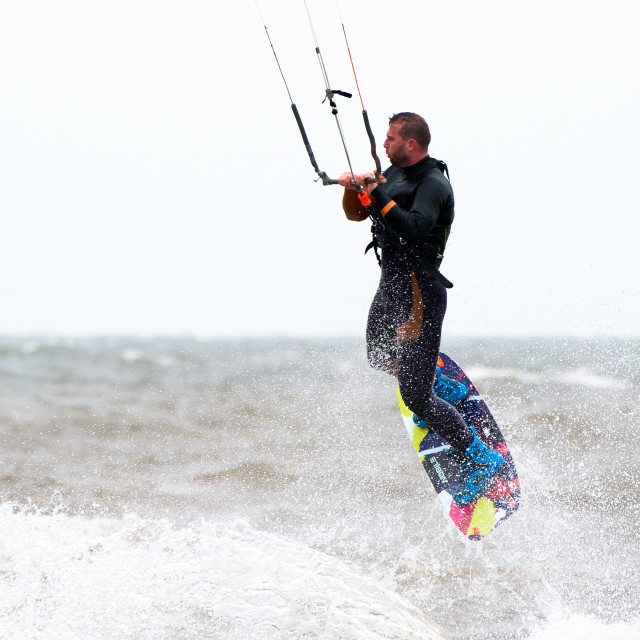 """Kite surfer, Hunstanton"" stock image"