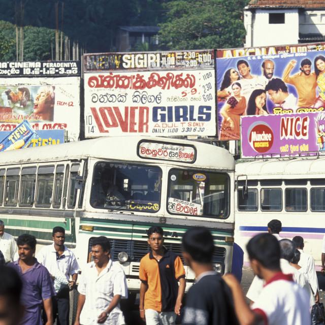 """SRI LANKA KANDY BUS STATION"" stock image"