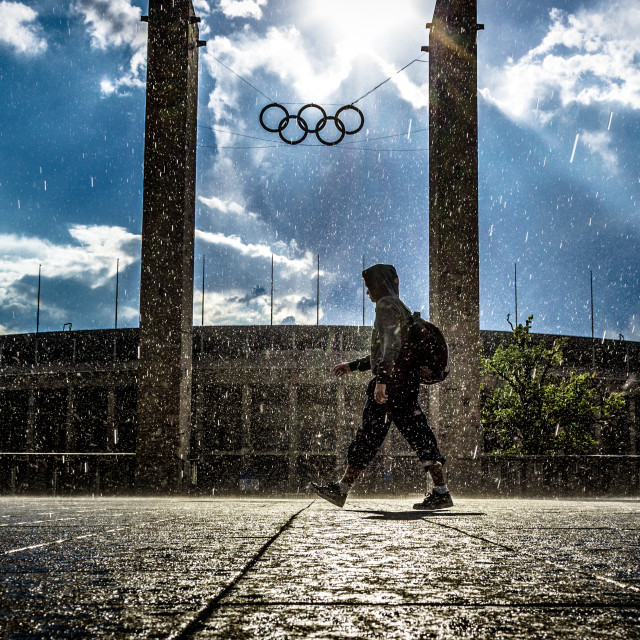 """""""Passing by Olympics"""" stock image"""