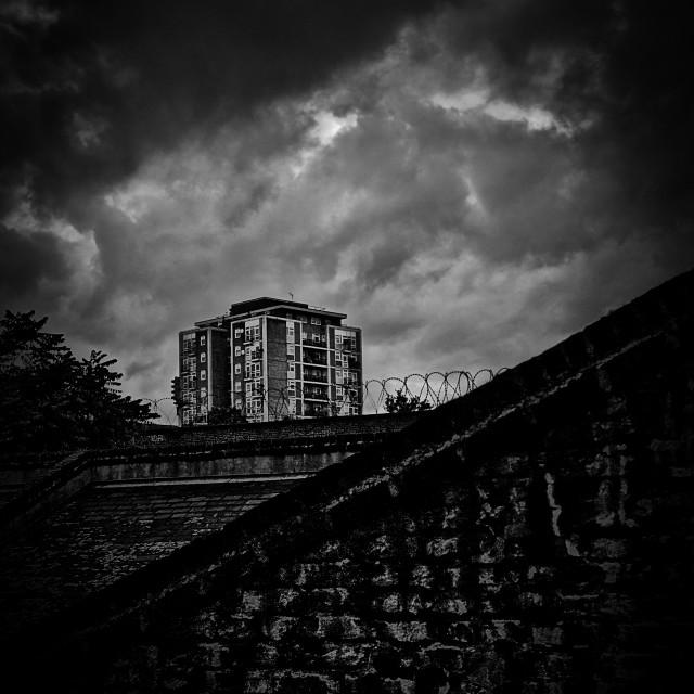 """Late night Brixton skyline"" stock image"