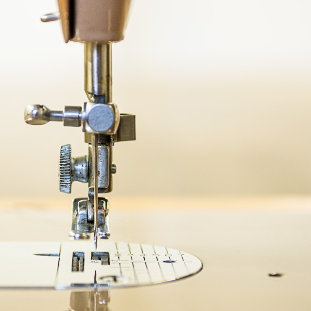 """Vintage Sewing Machine close up"" stock image"