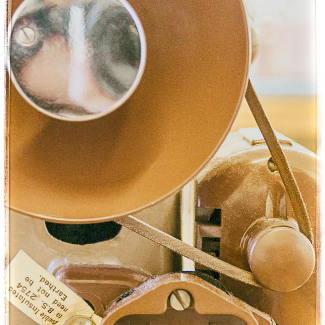 """Vintage Sewing Machine close up"" stock image"