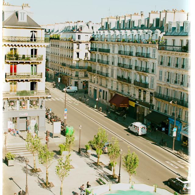 """Views of Paris Rue de Rivoli"" stock image"