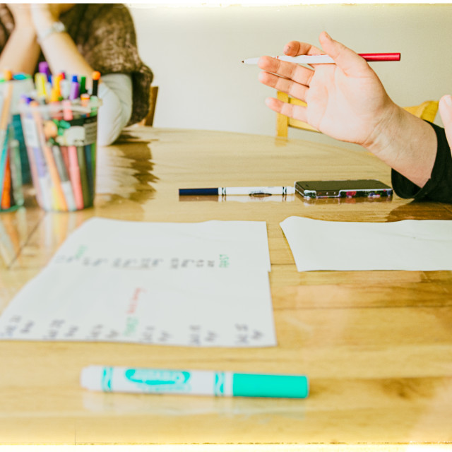 """""""Meeting notes"""" stock image"""