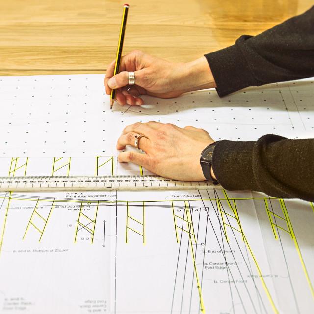 """Dress / Pattern Making"" stock image"