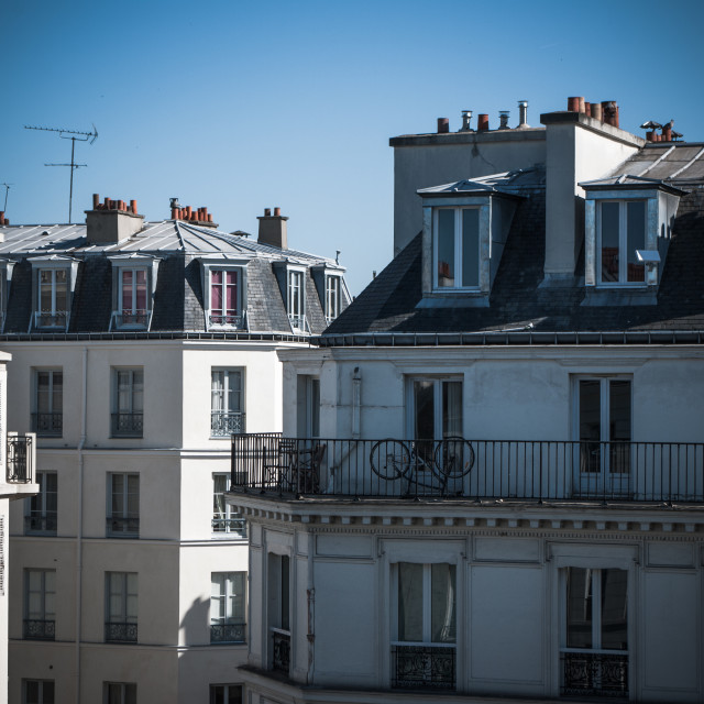 """""""Parisan Rooftops with Balconies"""" stock image"""