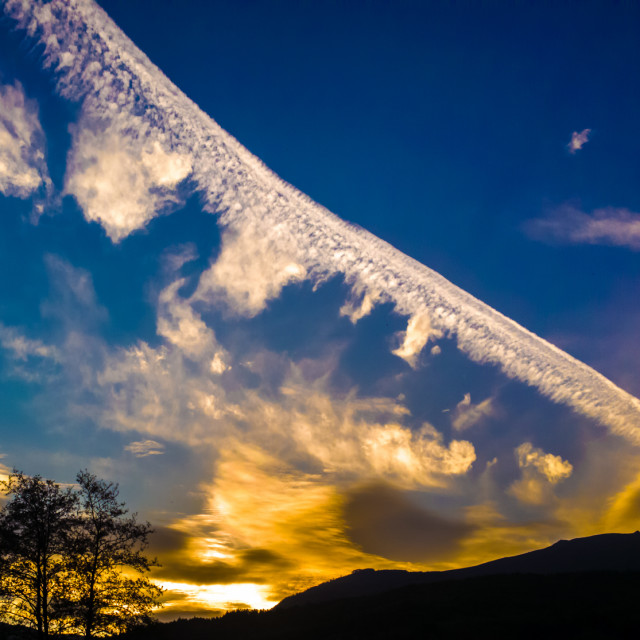 """Textured sky"" stock image"