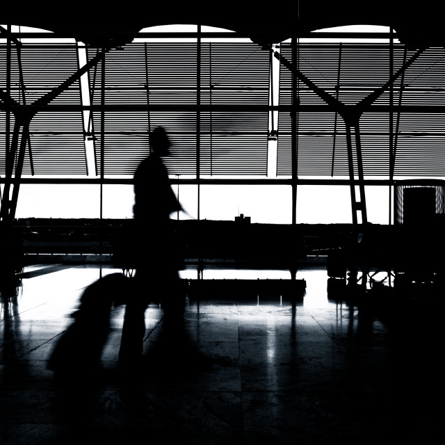 """Silhouette of the pilot"" stock image"